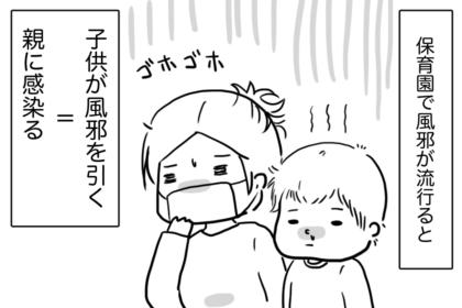 子どもの風邪は100%感染る、そしてループする